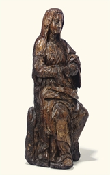 A FRENCH WALNUT FIGURE OF THE