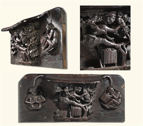 AN ENGLISH OAK MISERICORD