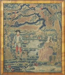 A GEORGIAN NEEDLEWORK PICTURE,