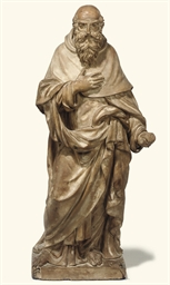 AN ITALIAN TERRACOTTA FIGURE O