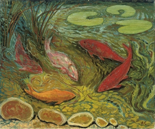 Five fish; Pond and Grotto; an