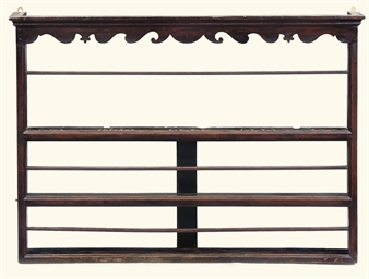 AN ENGLISH PINE PLATE-RACK