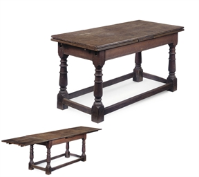A DEVON OAK DRAW-LEAF TABLE