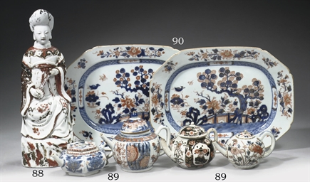 Four Imari teapots and covers