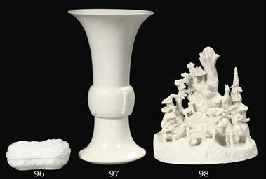 A late Ming blanc-de-chine vas