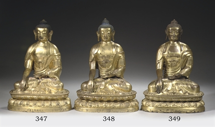 A sino-tibetan copper-gilt rep