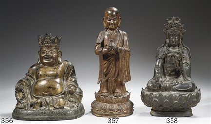 A late Ming bronze figure of B
