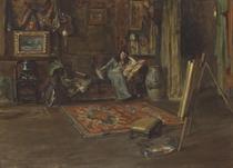 Interior of William Merritt Chase's Tenth Street Studio