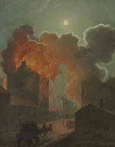 A Fire in Boston by Moonlight