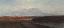 "Study for ""Spanish Peaks, Southern Colorado"""