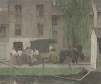 The Peddler's Cart on the Canal, New Hope