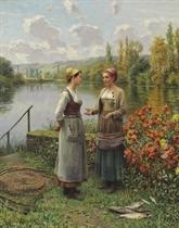 Two Women in a Landscape