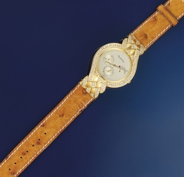 A DIAMOND SET AUTOMATIC WRISTW