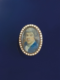 A late 18th century portrait m