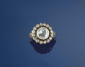 A 19th century rose-cut diamon