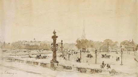 Vue de la Tour Eiffel depuis l