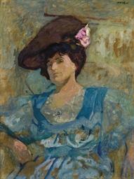 Portrait de Lucy Hessel au cha