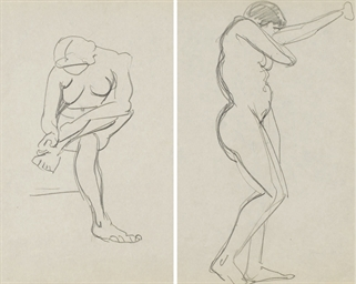 Femme nue assise (recto); Etud