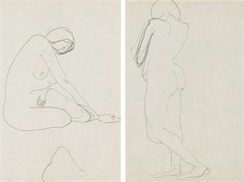 Femme nue assise (recto); Nu d
