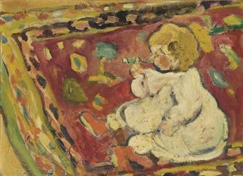 Enfant sur un tapis