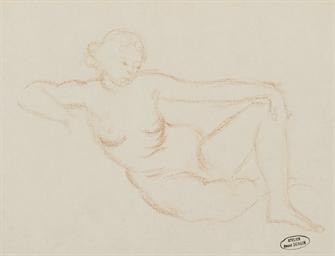 Femme nue accoudée