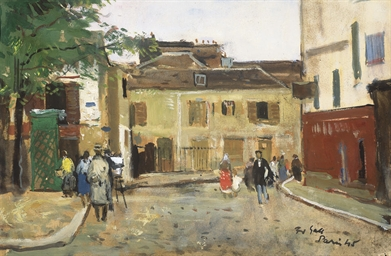 Le peintre au chevalet, place