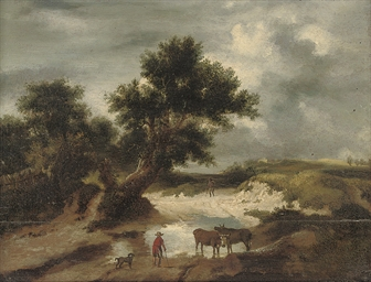 Travellers and Cattle in a woo