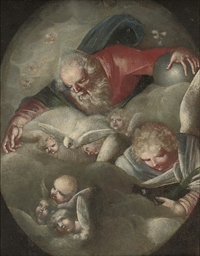 The Trinity, in a feigned oval