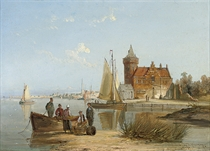 The house de Vraag. On the Amstel, Amsterdam
