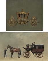 The State Coach; and Study for an autobus coach