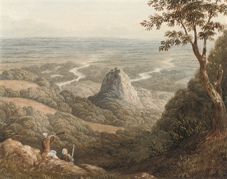 Travellers overlooking a plain