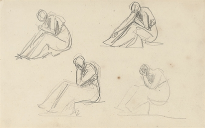 Four studies of seated women