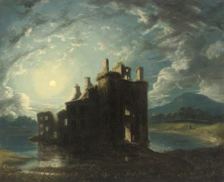 A ruined castle on a loch by m