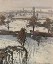 A snow covered landscape, Gene