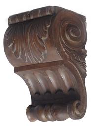 A walnut corbel