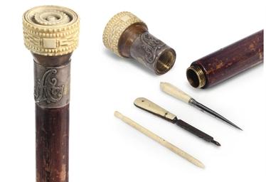 An Ivory handled gadget walkin