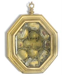 A gilt-bronze framed double-si