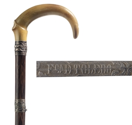 A horn-handled walking  sword