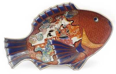 A Japanese Imari porcelain dis