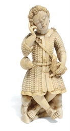 A Goanese ivory figure of Chri