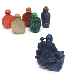 A group of five Chinese snuff