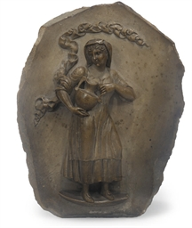 A Neapolitan lava relief plaqu