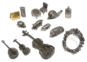 A group of fourteen silver and