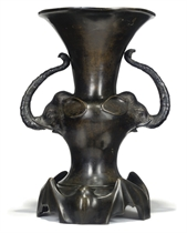 A CHINESE SPELTER VASE