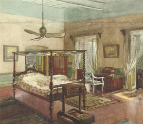 The bedroom of Percy Brown, Ca
