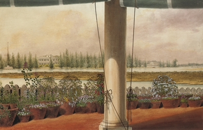 The river Adyar, Madras, from