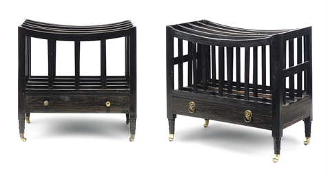 A PAIR OF ANGLO-INDIAN EBONY C