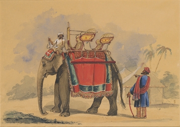 A howdah and driver