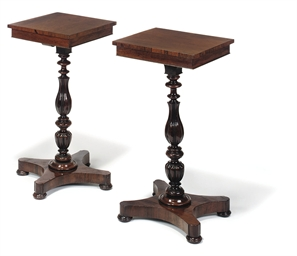 A PAIR OF ROSEWOOD OCCASIONAL