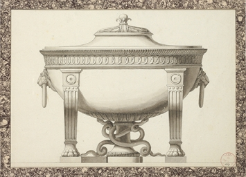 Design for a tureen with lion'